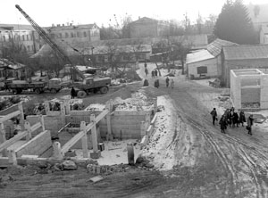 Foundation laying of the first starting academic and laboratory complex, 1983.