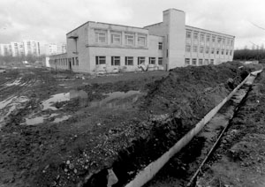 The termination of construction works of the veterinary medicine building, 1995.